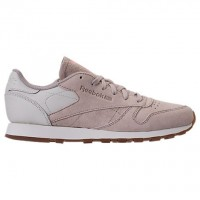 Sandstein/Kreide/Gummi Frauen Reebok Classic Leder Gummi Sneaker Bs5112