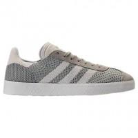 Männer Adidas Originals Gazelle Primeknit Schuhe Bz0004 Sesame/Aus Weiß/Spur Grün