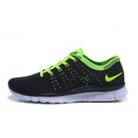 Schwarz/Volt Nike Free Flyknit Nsw Herren Schuhe