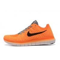 Nike Free Flyknit 5.0 Damen Orange Grau Sneaker