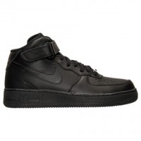 Herren Nike Air Force 1 Mitte Sneaker 315123 001 Schwarz