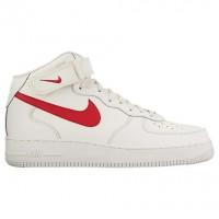 Nike Air Force 1 Mid Herren Sneaker 315123 126 Beige/Universität Rot