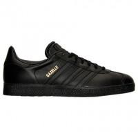 Männer Adidas Gazelle Leder Schuhe Bb5497 In Kern Schwarz/Metallisch Gold