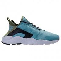 Damen Nike Air Huarache Run Ultra Glimmer Blau/Legion Grün Schuhe 859516 401
