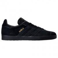 Adidas Gazelle Leder Männer Schuhe Bz0029 Kern Schwarz/Gold Metallisch