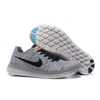 Licht Grau Schwarz Herren Nike Free Flyknit 5.0 Schuhe