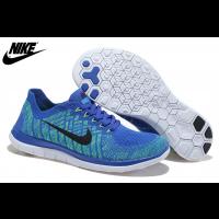 Königlich Blau Fluoreszenz Grün Schwarz Herren/Damen Nike Free 4.0 Flyknit Schuhe 717076