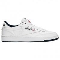 Männer Weiß/Marine Reebok Club C 85 Schuhe Ar0457