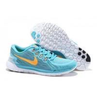 Licht Blau/Orange Nike Free 5.0 V2 Damen Schuhe