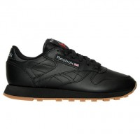 Schwarz/Schwarz Frauen Reebok Classic Leder Gummi Schuh 49802