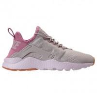 Damen Nike Air Huarache Run Ultra Schuh 819151 009 Licht Knochen/Orchidee/Gummi Gelb