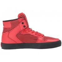 Männer/Frauen Supra Vaider Rot/Schwarz Schuhe