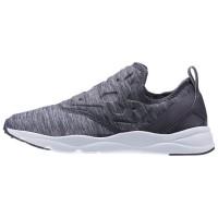 Reebok Furylite Frauen Slip On Jersey Klassisch Schuhe (Asche Grau/Weiß)