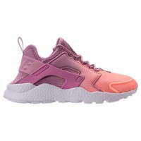 Frauen Nike Air Huarache Run Ultra Atmen Schuh 833292 501 Orchidee/Dunkel Orange/Weiß
