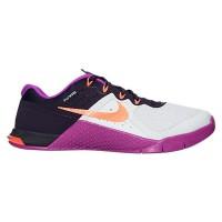 Frauen Nike Metcon 2 Grau Weiß/Gesamt Crimson/Purple Schuh 821913-002