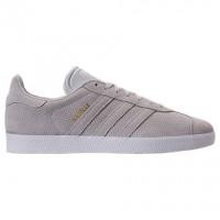 Adidas Gazelle Leder Herren Schuhe Bz0027 - Grau/Gold Metallisch
