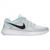Weiß/Fluoreszierend Grün/Grau Weiß/Blau Damen Nike Free Rn Sneaker 880840 103