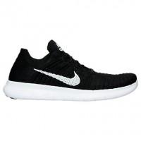 Schwarz/Weiß Nike Free Rn Flyknit Herren Sneaker 831069 001
