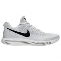 Herren Nike Lunarepic Low Flyknit 2 Schuhe 863779 100 Weiß/Schwarz/Grau Weiß