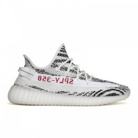 Damen/Herren Adidas Kanye West Yeezy Yeezy Boost 350 V2 In Zebra Weiß Schwarz Rot