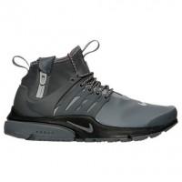 Dunkel Grau/Reflektieren Silber/Schwarz Damen Nike Air Presto Mid Utility Schuh 859527 001