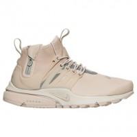 Damen Nike Air Presto Mid Utility Schuh 859527 200 - Zeichenfolge/Reflektieren Silber/Licht Knochen