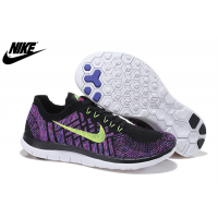 Damen Nike Free 4.0 Flyknit Schwarz Blitz Limette Fuchsie Blitz Schuhe 717076-003