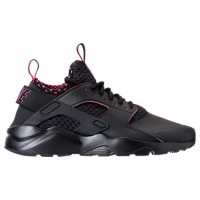 Männer Schwarz/Solar Rot Nike Air Huarache Run Ultra Se Schuh 875841 005