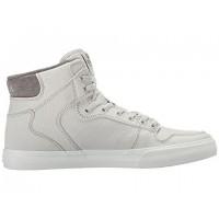 Damen/Herren Supra Vaider Grau Violet/Weiß Segeltuch Schuhe