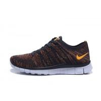 Männer Nike Free Flyknit Nsw Braun/Gelb Sneaker