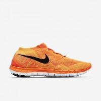 Nike Free 3.0 Flyknit Männer Hyper Karmesinrot/Hell Zitrusfrucht/Laser Orange/Schwarz Sneaker