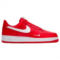 Herren Universität Rot/Weiß/Schwarz Nike Air Force 1 Low Sneaker 820266 606