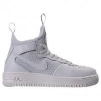 Nike Air Force 1 Ultraforce Mitte Frauen Schuhe 864025 100 Gipfel Weiß/Grau Weiß