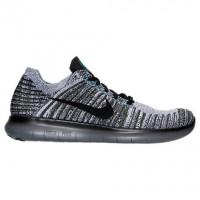 Nike Free Rn Flyknit Ladung Khaki/Schwarz/Blau Glühen Herren Schuhe 831069 305