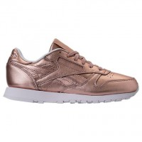 Frauen Reebok Classic Leder Metallisch Perle Metallisch/Pfirsich/Weiß Schuh Bs7897