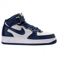 Nike Air Force 1 Mitte Herren Schuh 315123 412 - Binär Blau/Gipfel Weiß