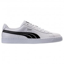 Männer Weiß/Schwarz Puma Korb Klassisch Badge Sneaker 36255001