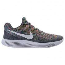 Herren Nike Lunarepic Low Flyknit 2 Cool Grau/Weiß/Volt/Blau Glühen Schuh 863779 003