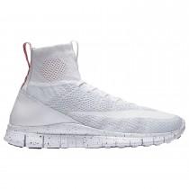 Nike Free Flyknit Mercurial - Herren 05554100 Weiß/Grau Weiß/Universität Rot/Weiß