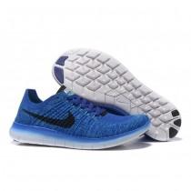 Blau Schwarz Nike Free Flyknit 5.0 Herren Schuh