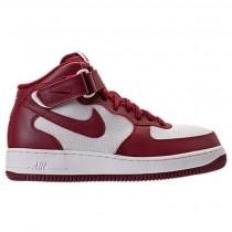 Männer Nike Air Force 1 Mitte Schuh 315123 610 Mannschaft Rot/Gipfel Weiß