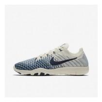 Damen Nike Free Tr Flyknit 2 Indigo Beige/Cerulean/Hochschule Marine Sneaker 904656-104