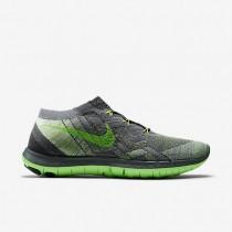 Herren Nike Free 3.0 Flyknit Sneaker Im Fluoreszierend Grün/Cool Grau/Dunkel Grau/Grün Streik