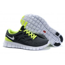 Nike Free Run 2 Mens Running Shoes Black Anthracite White Volt