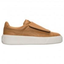 Puma Basket Platform Strap Damen Schuhe 36412303 003 Apfel Cinnamon/Weiß
