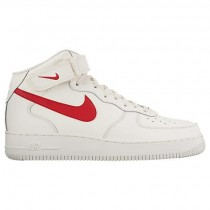 Nike Air Force 1 Mid Herren Sneaker 315123 126 Beige/Universität Rot