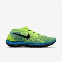 Volt/Blau Lagoon/Grün Strike/Schwarz Herren Nike Free 3.0 Flyknit Sneaker
