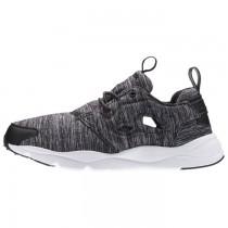 Reebok Furylite Damen Jersey Klassisch Sneaker (Schwarz/Weiß)
