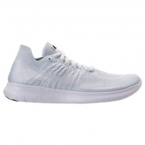 Männer Weiß/Grau Weiß/Schwarz Schuhe Nike Free Rn Flyknit 880843 100