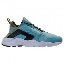 Damen Nike Air Huarache Run Ultra Glimmer Blau/Legion Grün Schuhe 859516 401